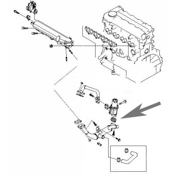 plaque de suppression de la vanne egr pour les moteurs 1 6 crdi. Black Bedroom Furniture Sets. Home Design Ideas