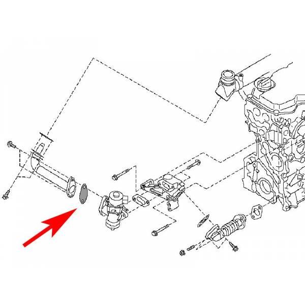 plaque de suppression egr moteurs d22 2 5 r51 td dci