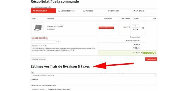 Estimer les frais de port sans ouvrir de compte client